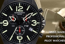 Torgoen Pilot Watches / Torgoen watches were created by aviation enthusiasts with a mission to create a line of professional pilot watches. Designed with cockpit inspired dials & luminescent hands, the watches are tested under extreme conditions to ensure it can hand conditions extreme as you!