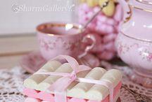 декор стола сладостями