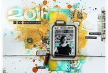 Arnlaug for scrappiness / Scrapp, mixedmedia, kort, artjournaling div