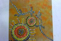 Aboriginals kunst / Tekenopdracht Aboriginals