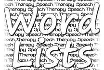 SLT word lists