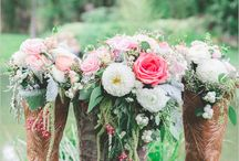 Western and country wedding flower inspiration
