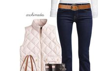 Outfits - dark blue jeans