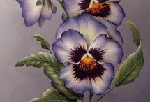 Målade blommor