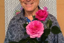 Kaffe Fassett Rose / The Kaffe Fassett Roe, available though Pollcock Roses. Launched at Hampton Court Flower festival. Kaffe's needepoint kit of the rose available though Ehrman Tapestry.