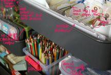 Organizing.