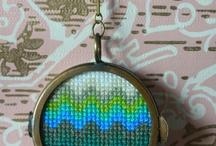 IGŁĄ I...: haft krzyżykowy abstrakcje