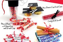 Graduation / Graduation gift, candy buffet and party favor ideas.