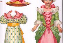 bambole e vestiti carta