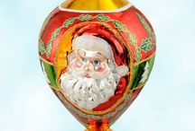 Radko Collectible Santas / SundryShop.com offers Christopher Radko rare-find, unique, collectible hand blown glass retired Santa ornaments, Santa centerpiece displays, including highly collectible, limited edition cookie jars, and holiday home decoration.  The St. Nick mouth-blown glass ornaments are retired and of investment quality.  Superior design and sculpturing, with details and silvering no longer available in today's production.