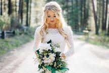 in the woods wedding sessjon
