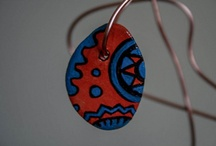 Handmade clay necklaces /
