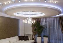 podwieszany sufit w salonie