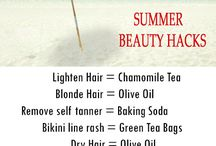 summer essentials / beauty products