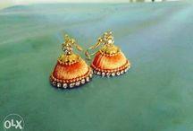 Silk Thread Earrings-Yash