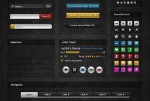 iOS UI/UX - Dark UI