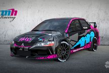 MH Racing - Martin Hudec (Mitsubishi Lancer) / Design for season 2014.