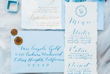 Wedding Calligraphy / Calligrapher wedding details for the big day!
