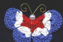 Crochet papillon