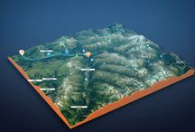 3D Map Path Builder / The 3D Map Path Builder After Effects template is perfect to create paths and trajectories of any complexity on 3D Terrain. Displacment in After Effect without plugins.