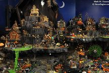 Dept 56 Halloween Village Set Ups