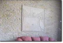 Песчаник в отделке интерьеров / Изготовление декоративной плитки из натурального камня песчаника