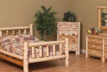 White Cedar Log Furniture / http://www.oldbarnstar.com - Old Barn Star introduces the White Cedar Log Furniture Collection of reclaimed barnwood furniture.