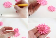 tutorial fondant flower