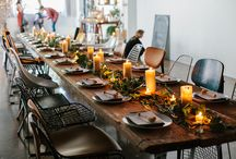 E A T * S P A C E / places and spaces for eating, tables, chairs, stools, table decoration and ideas