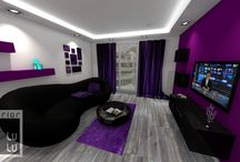 Salon / Living room / Projekt salonu