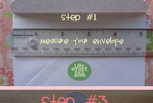HOW TO: line an envelope
