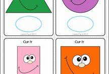 Geometrické tvary,farby