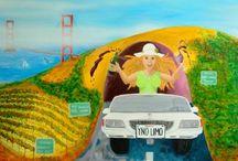 Wine Art / California artist Deb Breton celebrates the intense fun of living in Wine Country California!