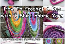 crochet rug from t-shirts