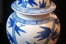 Art blue and white unit