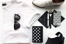 ◻ modern-chic-simple-street-clothes-flat lay ◼ / Fashion changes, style remains.