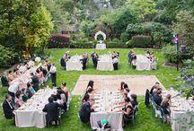 Jardín de fiestas y carpas