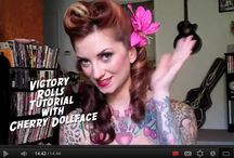 Vintage style hair tutorials / One day I will master the technique of a rockin' victory roll! Until that day I shall pin every hair inspiration pin/tutorial I find ;)
