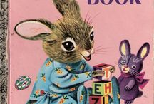 vintage childrens book art and toys