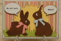 coelhinhos e ovos Páscoa