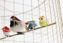Lustre cage a oiseaux