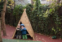 Play Dens & Shelters / Child size spaces are an essential part of outdoor playscapes!