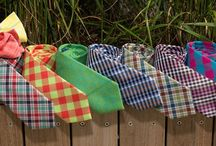Summer Plaid Ties / Spend the Dog Days of Summer in Our Picnic Plaid Neckties, Bow Ties and Pocket Squares