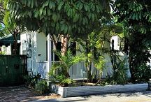 Down Island Digs ~ #Key West Rental Cottage    2 BR 2 BA  - Private Pool - Sleeps 5 / Everything about this historic Key West tropical gem adds up to make a precious private garden cottage. Sitting in the mature tropical tree garden in the hidden back yard, you would never know you're just 1/2 block off Duval St. Winter - $2975. per wk. Shoulder - $2550. per wk/. Summer $2250. per wk/