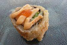 Fried Rolls y pizza sushi / ¡Mmmm!