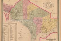 Washington DC Antique Maps