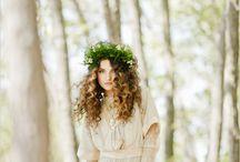 modest wedding gowns / vintage wedding fashion / mostly long sleeve dresses and mantilla veils  / by Maria Szpunar