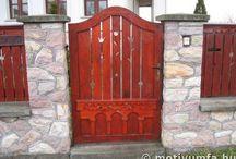 Kapuk, ajtók, keritések..