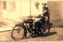 old sepia gallery of teens indian motorcycle riders