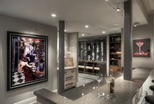 Man Caves with Metal Wine Cellars